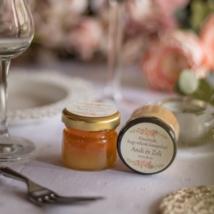zero waste köszönetajándék méz üvegben hulladékmentes