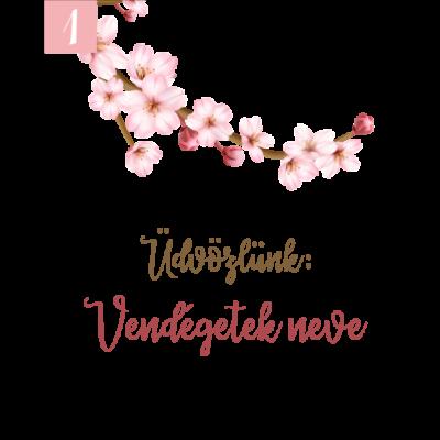 cseresznyevirág mintás ültetőkártya köszönetajándékokhoz