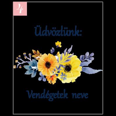 Virágmintás ültetőkártya köszönetajándékhoz