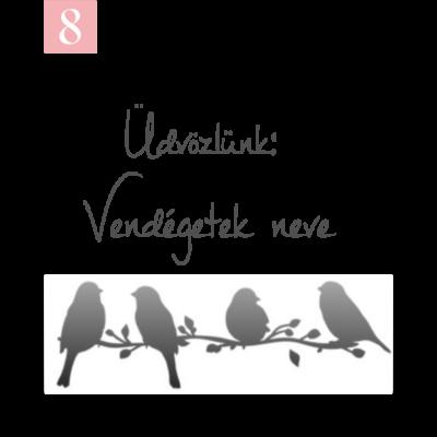 madaras mintájú ültetőkártya köszönetajándékhoz