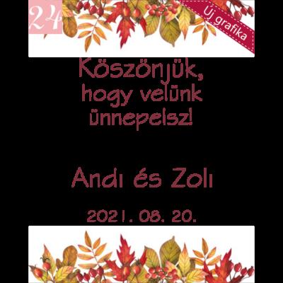 őszi levélmintás grafika köszönetajándékhoz