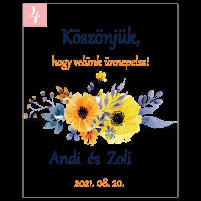 akvarell virágok kártya köszönetajándékhoz