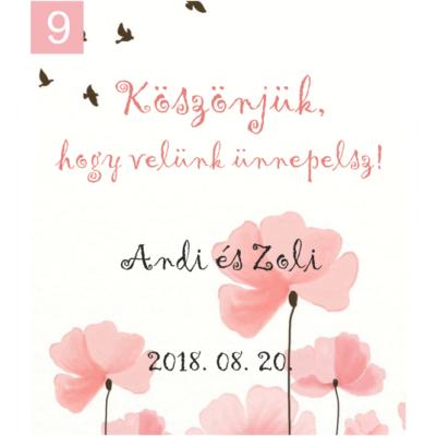 Ingyenes ajándékkísérő köszönetajándékainkhoz: 9-es kártya