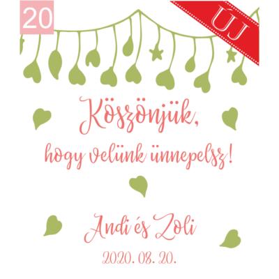 Ingyenes ajándékkísérő köszönetajándékainkhoz: 20-as számú grafika