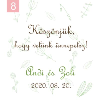 Ingyenes ajándékkísérő köszönetajándékainkhoz: 8-as kártya