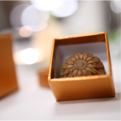 Díszdobozos szappanvirág (bronz)