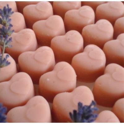 Rózsafaolajos szappanszív - csomagolás nélkül