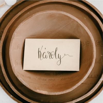 Mezei virágmagkeverék kraft mini borítékban kalligrafikus névvel