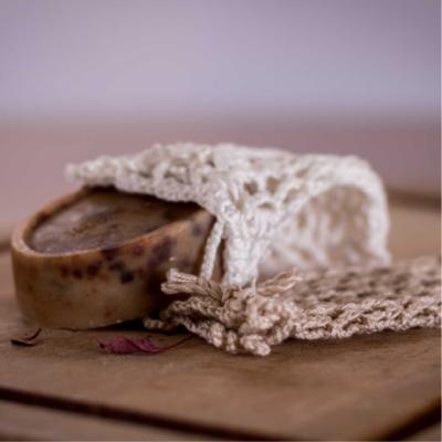 drapp horgolt szappanzsák kézműves szappanhoz
